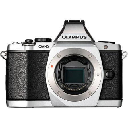 Olympus OM D E M Mirrorless Digital Camera Megapixel Image Stabilized Tilting OLED Display Full HD V 259 - 225
