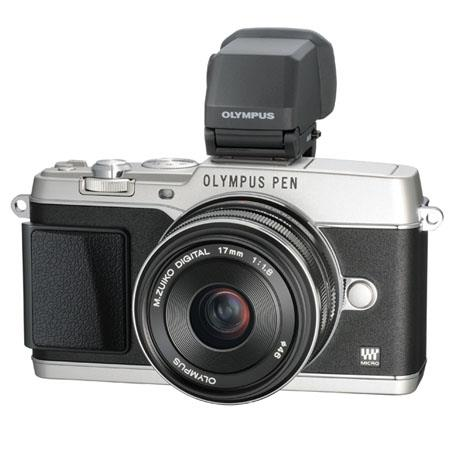 Olympus Pen E P Micro Four Thirds Mirrorless Digital Camera F Lens VF Electronic Viewfinder Silver 34 - 694