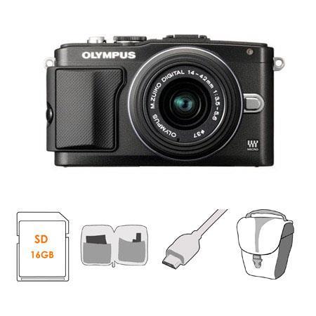 Olympus E PL Mirrorless Digital Camera f Lens Bundle GB Class SDHC Memory Card Olympus Mini Messenge 70 - 473