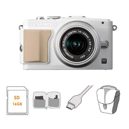 Olympus E PL Mirrorless Digital Camera f Lens Bundle GB Class Class SDHC Memory Card Olympus Mini Me 128 - 772