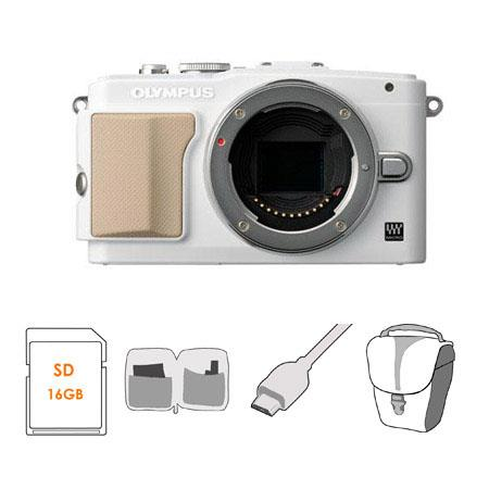 Olympus E PL Mirrorless Digital Camera Body Bundle GB Class SDHC Card Carry Case HDMI Cable Cleaning 35 - 591