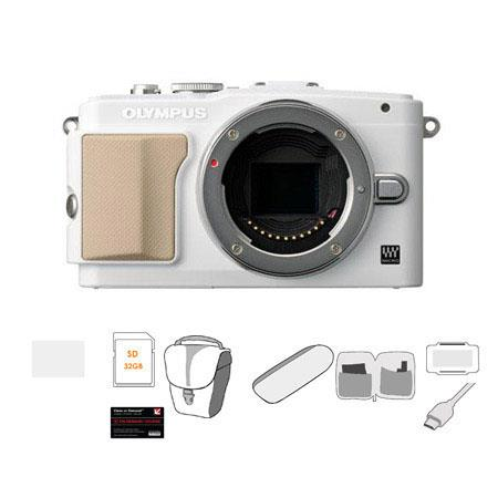 Olympus E PL Mirrorless Digital Camera Body Bundle GB Class SDHC Card Carry Case Cleaning Kit Camera 165 - 332