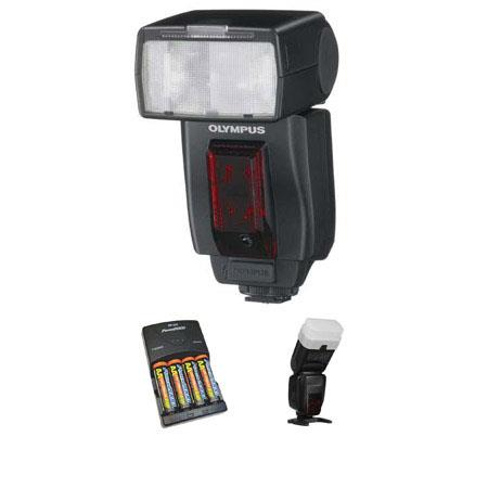 Olympus FL R Wireless Flash Basic Outfit NiMH Batteries Charger Sto Fen Omni Bounce 111 - 775