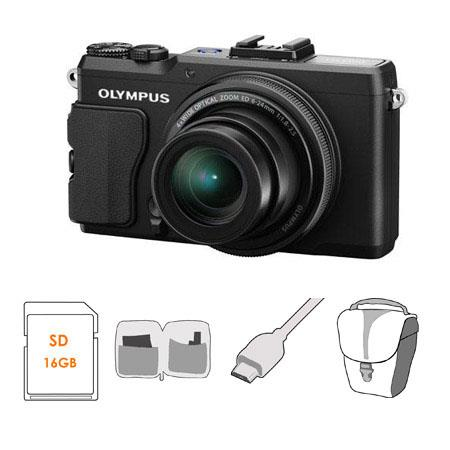 Olympus XZ Digital Camera MP f Lens Bundle GB Class SDHC Memory Card Olympus Mini Messenger Bag Micr 128 - 772