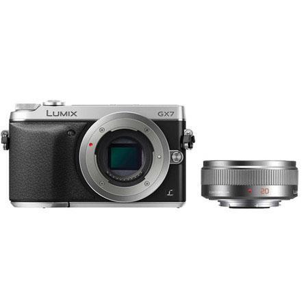 Panasonic LumiDMC GX Mirrorless Digital Camera Kit Aspherical Micro Lens Lens Silver 107 - 174
