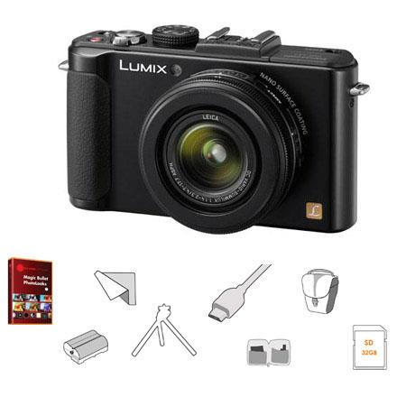 Panasonic LumiDMC LX Cameramm Leica Lens Bundle GB Class SDHC Card Lowepro Rezo TLZ Bag Spare Batter 187 - 120