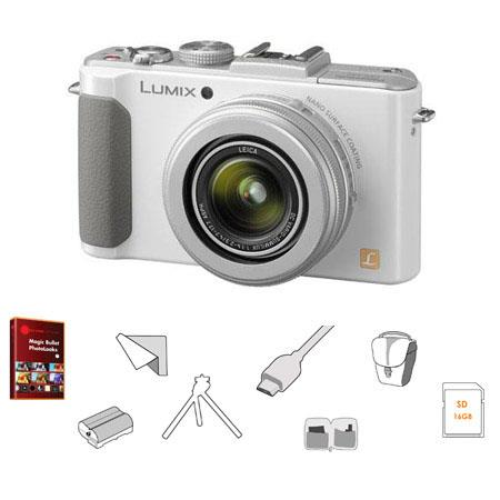 Panasonic LumiDMC LX Digital Cameramm Leica Lens Bundle Panasonic GB SDHC Memory Card Lowepro Rezo T 59 - 456