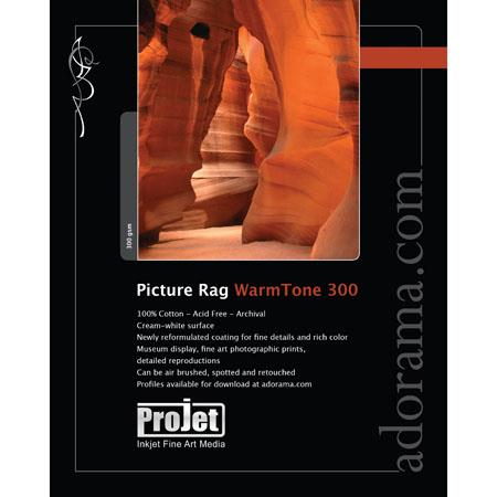 ProJet Elite Picture Rag Warm Tone Dual Sided Smooth Matte Archival Fine Art Inkjet Paper gsmSheets 149 - 589