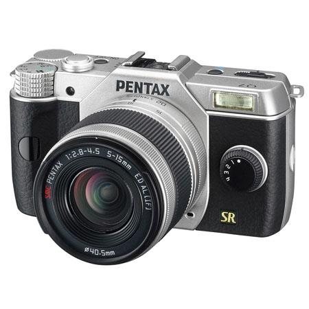 PENTAX Q Mirrorless Digital Camera Zoom Lens mm equiv Silver 121 - 172