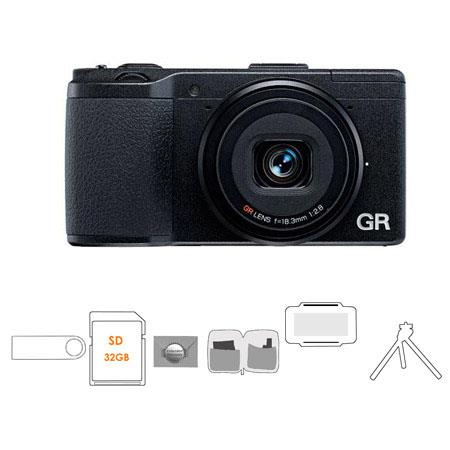 Ricoh GR Pocket Size Compact Digital Camera Bundle Mack Year Extended Warranty Flashpoint Mini Multi 360 - 37