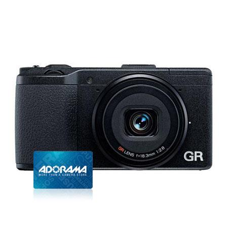 Ricoh GR Pocket Size Compact Digital Camera Bundle Adorama Gift Certificate 81 - 493