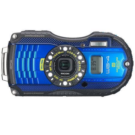 Ricoh WG GPS Digital Camera MPOptical f Lens LCD Full HD p HDMIUSB GPS Digital Compass Blue 84 - 384