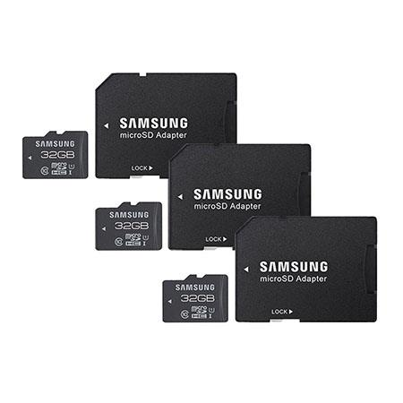 Samsung PACK Pro Class UHS GB microSDHC Flash Card Adapter Up to MBs Read MBs Write Speed 104 - 127