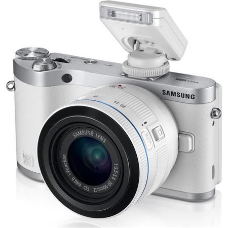 Samsung NX Mirrorless Digital Camera MP F ED Lens AMOLED Tilt and Touch HDMI USB Silver 223 - 229