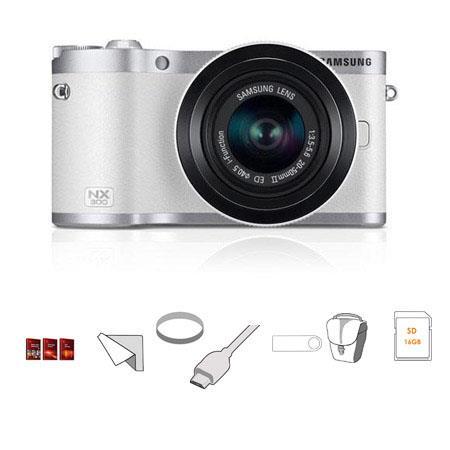 Samsung NX Mirrorless Digital Camera MP F ED Lens Silver BUNDLE wLexar GBPlatinum SDHC Card MC UV Fi 40 - 733