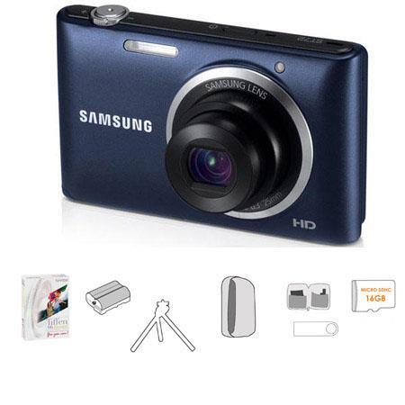 Samsung ST Digital Camera Bundle Lowepro TraCamera Pouch GB microSDHC Memory Card Table Top Tripod U 22 - 739