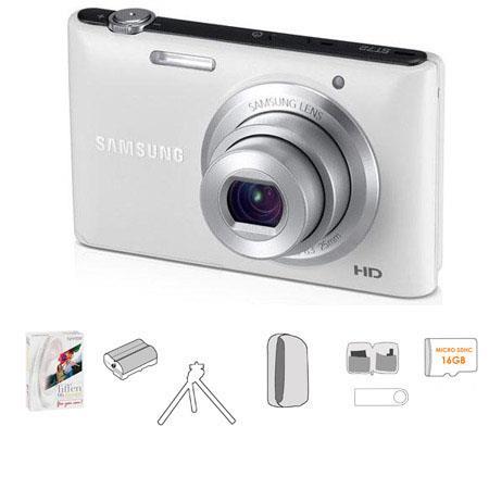 Samsung ST Digital Camera Bundle Lowepro TraCamera Pouch GB microSDHC Memory Card Table Top Tripod U 67 - 613