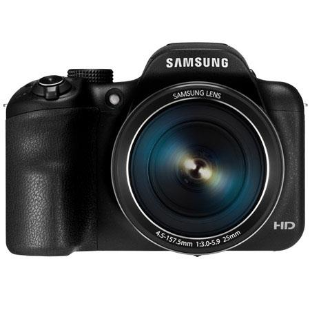 Samsung WBF Smart Digital Camera Lens MPOptical Zoom HVGA LCD p HD Video Wi Fi and NFC Connectivity  48 - 214