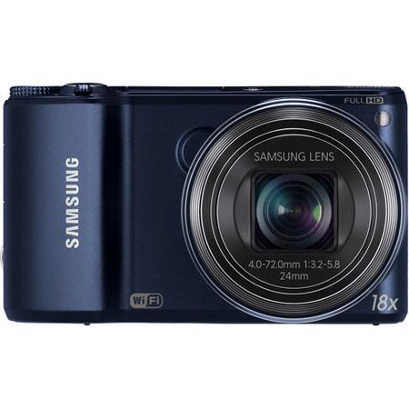Samsung WBF Smart Digital Camera MegapixelOptical Zoom LCD Display Wi Fi Cobalt 212 - 426