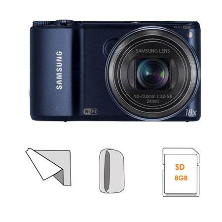 Samsung WBF Smart Digital Camera Cobalt Bundle Lowepro Dublin Camera Pouch GB SDHC Memory Card Micro 58 - 552