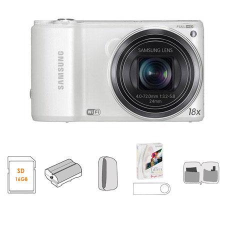 Samsung WBF Smart Digital Camera Bundle Lowepro Dublin Camera Pouch GB SDHC Memory Card USB Multi Ca 264 - 644