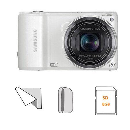 Samsung WBF Smart Digital Camera Bundle Lowepro Dublin Camera Pouch GB SDHC Memory Card Microfiber C 113 - 471