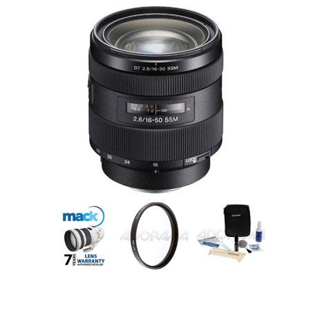 Sony f DT a Alpha Mount Zoom Lens Bundle Pro Optic UV Filter Mack Year Extended Warranty Adorama Cle 133 - 587