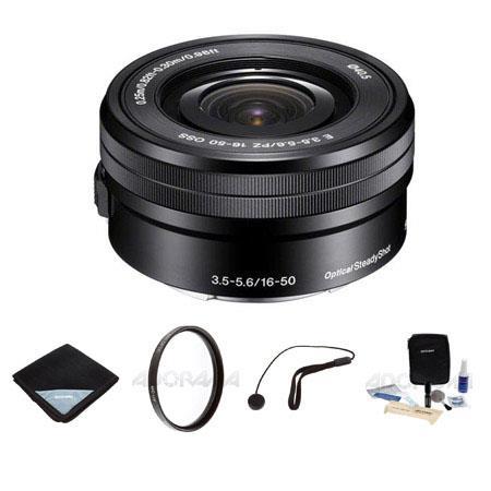 Sony F OSS E mount NEX Series Retractable Pancake Zoom Lens Bundle MM MC UV FILTR Pro Optics Lens wr 45 - 513