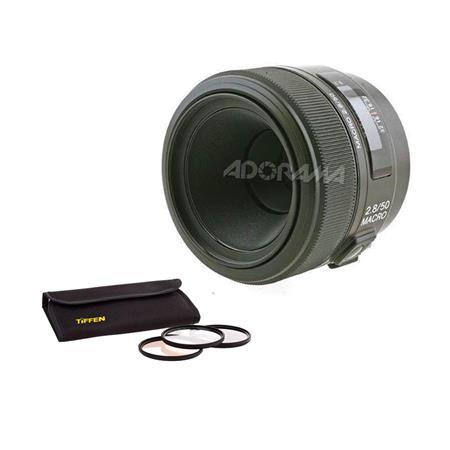 Sony f a alpha Mount Digital SLR Macro Lens Bundle Tiffen Photo Essentials Filter Kit 63 - 733
