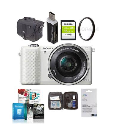 Sony Alpha A Mirrorless Digital Camera E Mount Lens Bundle Sony GB Class SDHC Card LowePro REZO TLZ  51 - 485