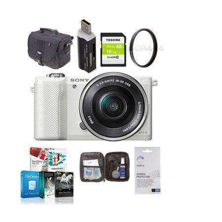 Sony Alpha A Mirrorless Digital Camera E Mount Lens Bundle Sony GB Class SDHC Card LowePro REZO TLZ  243 - 677