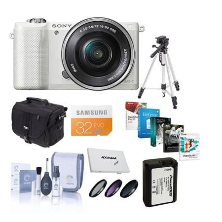 Sony Alpha A Mirrorless Digital Camera E Mount Lens Bundle Sony GB Class SDHC Card LowePro REZO TLZ  110 - 57