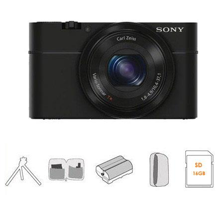 Sony Cyber Shot DSC RX Digital Camera GB SDHC Memory Card Sony Leatherette Case Spare Battery Profes 63 - 733