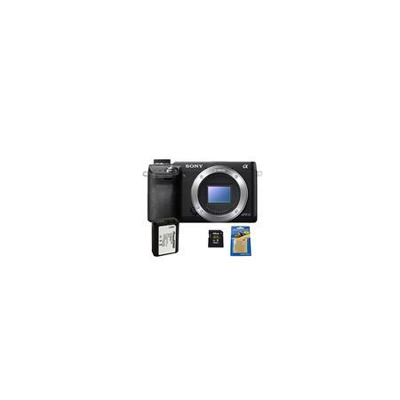 Sony Alpha NEX Mirrorless Digital Camera Body Bundle Transcend GB SDHC Class Memory Card Power mAh S 57 - 472
