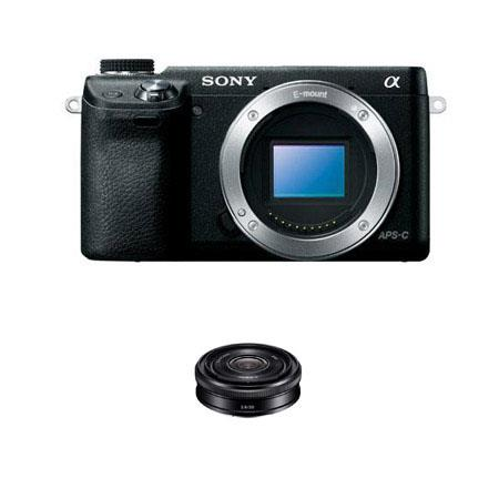 Sony Alpha NEX Mirrorless Digital Camera Body Bundle Sony F Lens 305 - 199