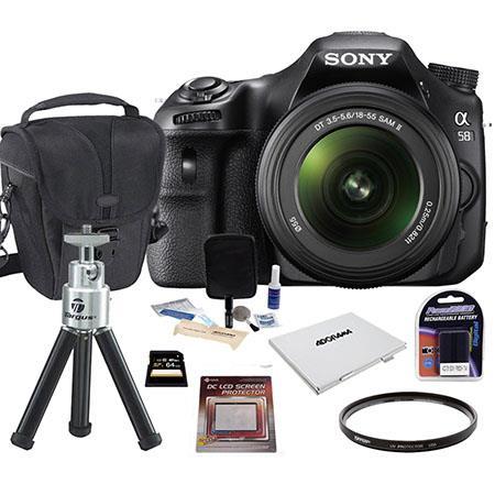 Sony Alpha DSLR SLT A Digital SLR Camera Lens Bundle GB SDHC Memory Card Camera Carrying Case Spare  106 - 481