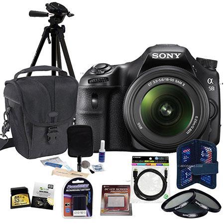 Sony Alpha DSLR SLT A Digital SLR Camera Lens Bundle GB SDHC Memory Card Camera Carrying Case Spare  213 - 795