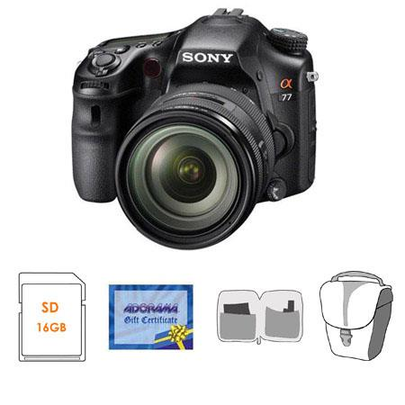 Sony Alpha DSLR SLT A Digital Camera Sony f DT Zoom Lens Bundle GB SD Memory Card Camera Bag Cleanin 106 - 55