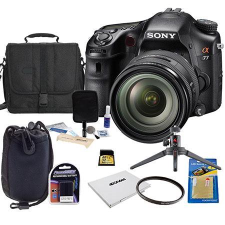 Sony Alpha DSLR SLT A Digital Camera Sony f DT Zoom Lens Bundle Sony GB SD Memory Card Camera Bag Sp 243 - 93