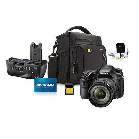 Sony Alpha DSLR SLT A Digital Camera Lens Bundle VG CAM Vertical Grip Adorama Gift Certificate GB Me 106 - 55