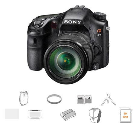 Sony Alpha DSLR SLT A Digital Camera Sony f SAM AFDMF Zoom Lens Bundle Sony GB SD Memory Card Camera 124 - 517