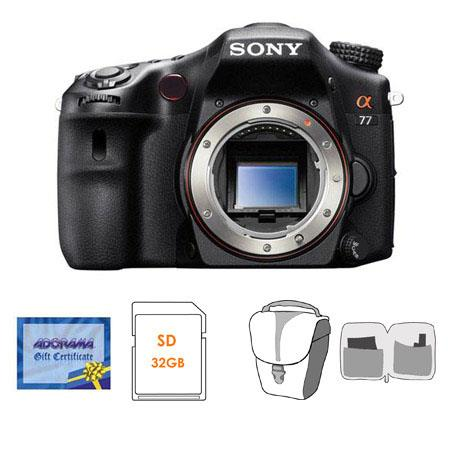 Sony Alpha DSLR SLT A Translucent Mirror Digital Camera Bundle GB SD Memory Card Camera Bag Cleaning 250 - 4