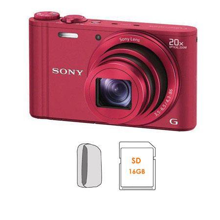 Sony Cyber Shot DSC WX Digital Camera Bundle GB SDHC Card Camera Case 125 - 423