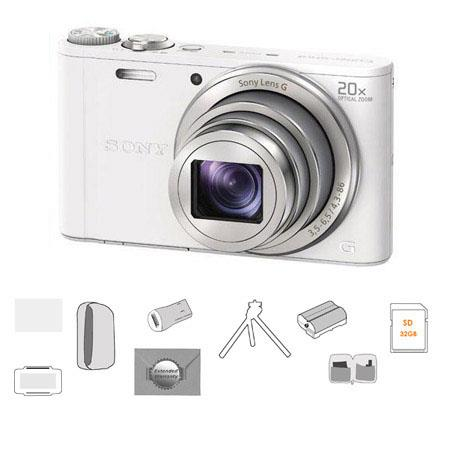 Sony Cyber Shot DSC WX Digital Camera Bundle Sony GB SDHC Card Camera Case USB Universal Card Reader 114 - 104