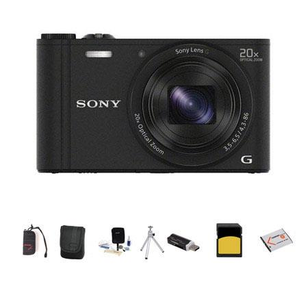 Sony Cyber shot DSC WX Digital Camera MPOptical Zoom Bundle Sony GB class SDHC Card Lowepro Case Spa 124 - 703