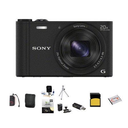 Sony Cyber shot DSC WX Digital Camera MPOptical Zoom Bundle Sony GB class SDHC Card Lowepro Case Spa 118 - 272