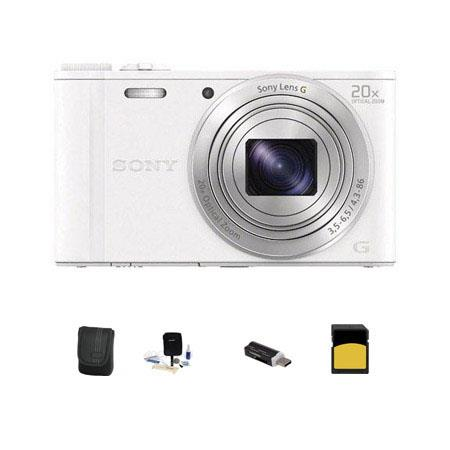 Sony Cyber shot DSC WX Digital Camera MPOptical Zoom Bundle Sony GB class SDHC Card Lowepro Case Cle 45 - 577