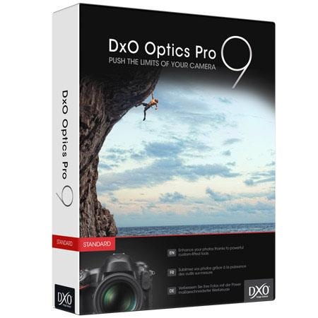 DXO Optics Pro Standard Edition Photo Enhancing Software Macintosh Windows Crop Format Cameras Only 137 - 743