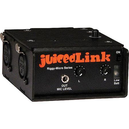 JuicedLink RM Riggy Micro Dual XLR Preamplifier Phantom Power 234 - 385