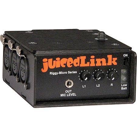 JuicedLink Riggy Micro XLR Low Noise Preamplifier VV Phantom Power 53 - 166